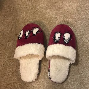 Vera Bradley Fuzzy Penguin Slippers